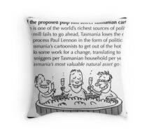Three cartoonists in a tub Throw Pillow