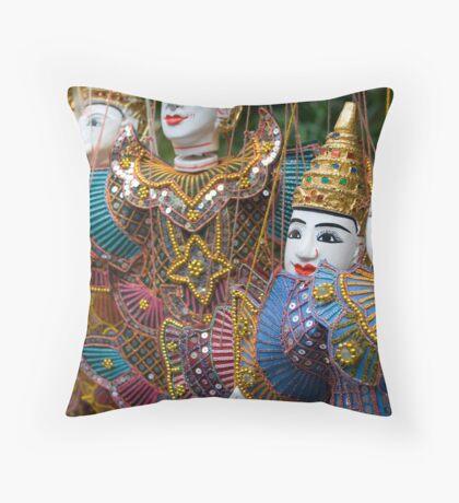 Thailand Dolls Throw Pillow
