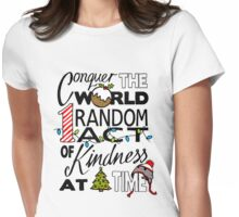Acts of Kindness  Womens Fitted T-Shirt