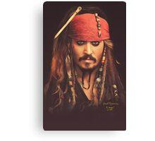 Jack Sparrow | Digital Painting  Canvas Print
