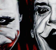 Faces of Joker Sticker