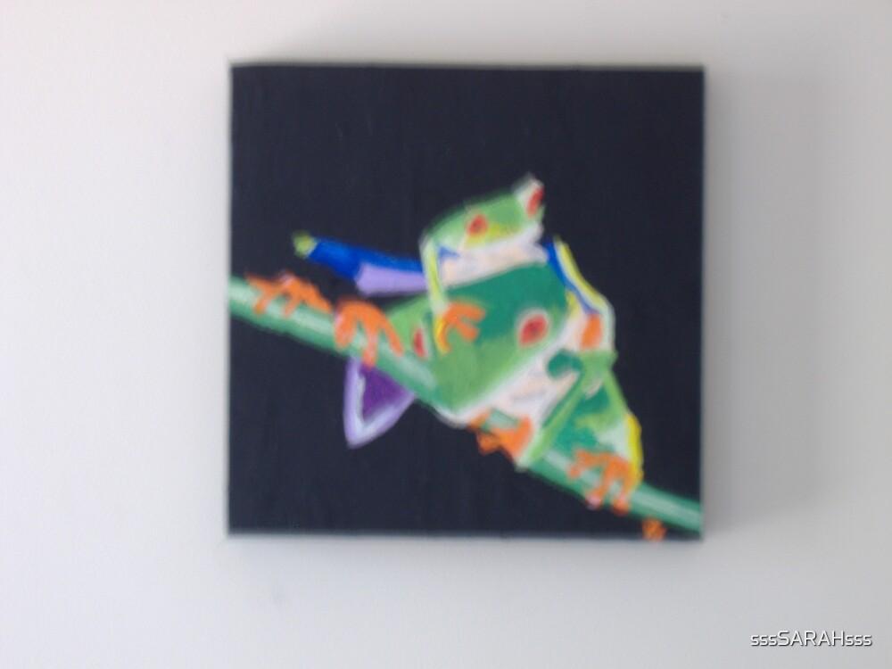 Two green frogs by sssSARAHsss