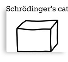 Schrödingers Cat Canvas Print