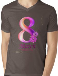 Women's Day 8th Of March Mens V-Neck T-Shirt