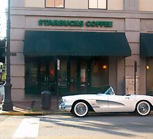 1954 Corvette Coffee Stop by Charlie