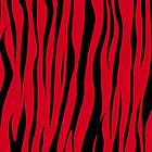 Red Tiger Print Design by Sookiesooker