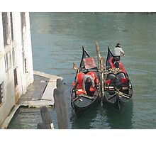 two gondolas Photographic Print