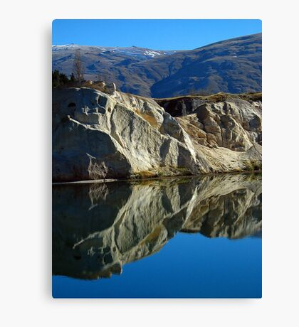 Blue Lake - St Bathans Canvas Print