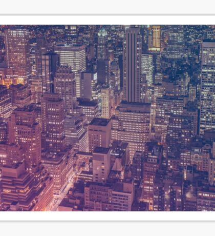 New York At Night Sticker