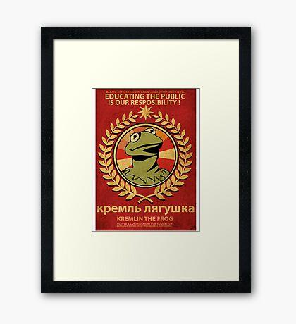 Kremlin The Frog Framed Print