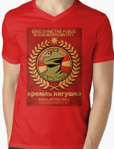 Kremlin The Frog Mens V-Neck T-Shirt
