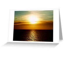 Sunset in Miami Greeting Card
