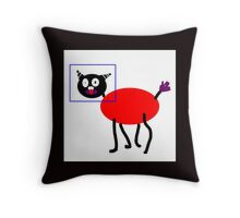 ME-WOW SILLY ITTY BITTY KITTY Throw Pillow