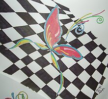 Checkered Butterfly by vjwriggs