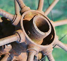 Old Wagon Wheel by Kerri McMahon