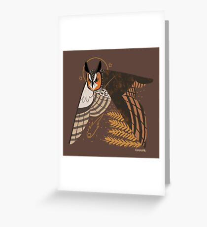 Familiar - Long Eared Owl Greeting Card