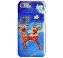 Little Angel on a Reindeer by Marie-Jose Pappas iPhone Case/Skin