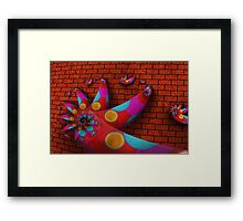 Climbing the Wall Framed Print