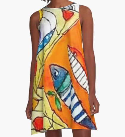 'By the Sea' A-Line Dress