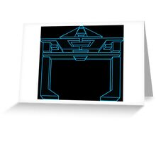 Recognizer Blue Greeting Card