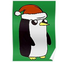Festive Gunter the Penguin. Poster