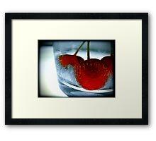 Ice Cherry Framed Print