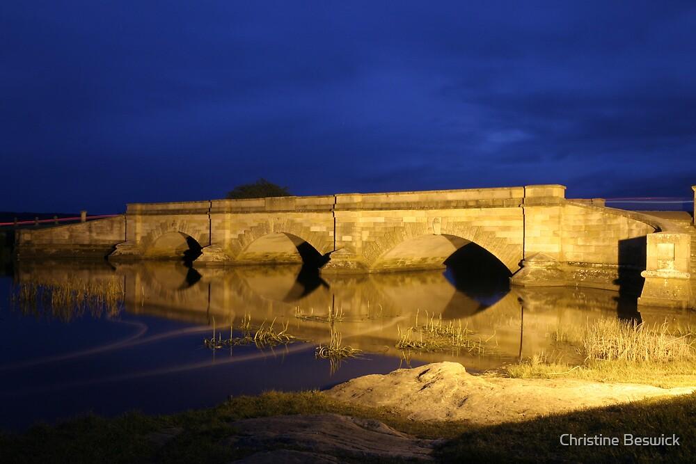 Convict built bridge at Ross, Northern Midlands, Tasmania by Christine Beswick