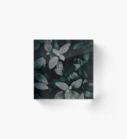 Dark Leaves 3 Acrylic Block
