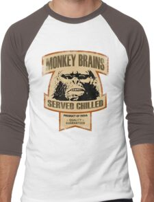 Monkey Brains (Color Print) Men's Baseball ¾ T-Shirt