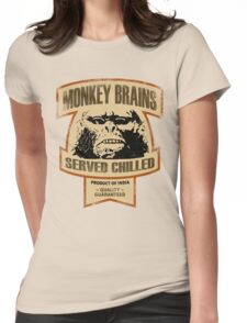 Monkey Brains (Color Print) Womens Fitted T-Shirt