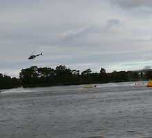 Super boats racing on the Manning River Taree. by Heabar