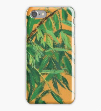 """""""Ash-tree"""", green & yellow, floral art iPhone Case/Skin"""