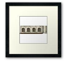 Glitch Apartment Exterior apartment topper 1 Framed Print