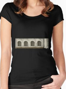 Glitch Apartment Exterior apartment topper 1 Women's Fitted Scoop T-Shirt