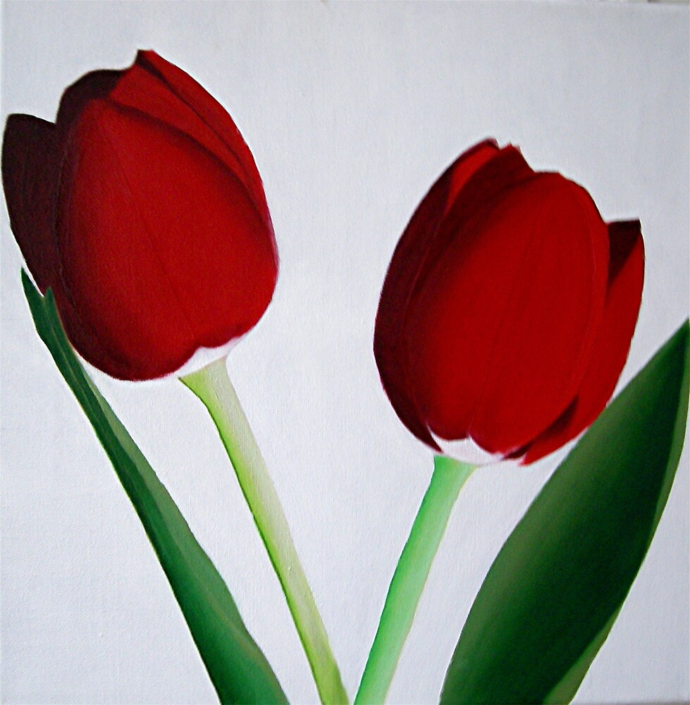 TWO RED TULIPS by juliecat