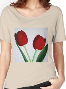TWO RED TULIPS Women's Relaxed Fit T-Shirt