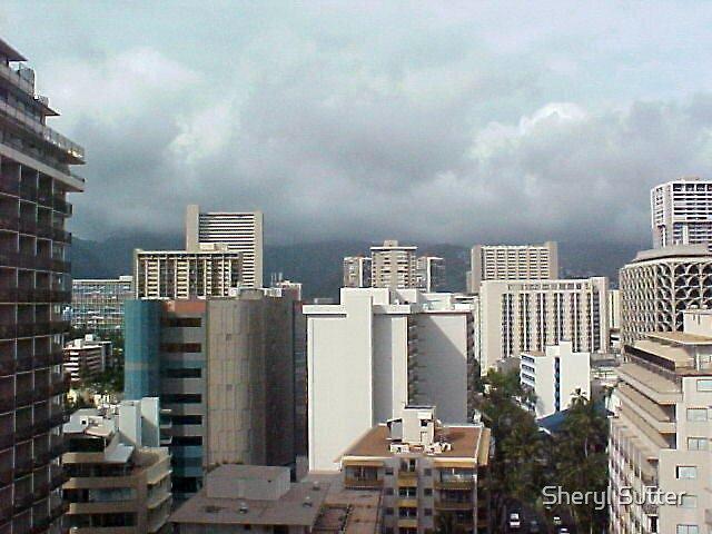 Waikiki City View by Sheryl Sutter