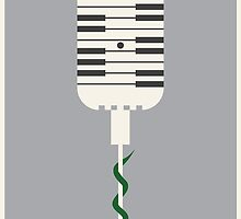 Piano Mic Print by DanielDevoy