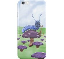 Who Are You? The Caterpillar on Mushroom iPhone Case/Skin