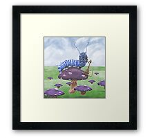 Who Are You? The Caterpillar on Mushroom Framed Print
