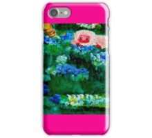 Little Lamb Sleeping in the Garden Pink by Marie-Jose Pappas iPhone Case/Skin