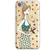 Girl in a Polka Dotted Dress iPhone Case/Skin