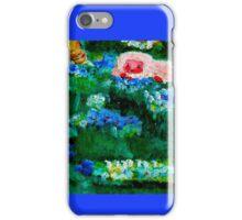 Little Lamb Sleeping in the Garden Blue iPhone Case/Skin