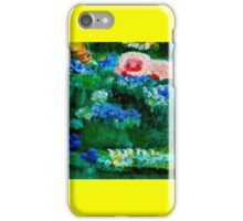 Little Lamb Sleeping in the Garden Yellow by Marie-Jose Pappas iPhone Case/Skin