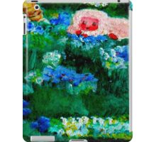 Little Lamb Sleeping in the Garden Red by Marie-Jose Pappas iPad Case/Skin