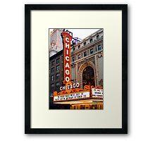 Chicago Theater Framed Print