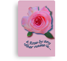 A Rose... by anyother name... * Canvas Print