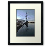 Tall Ship, Fleet Review, Darling Harbour, Sydney 2013 Framed Print