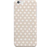 Swiss Cross in Taupe iPhone Case/Skin