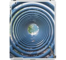 abstract landscape lake trought a rack iPad Case/Skin